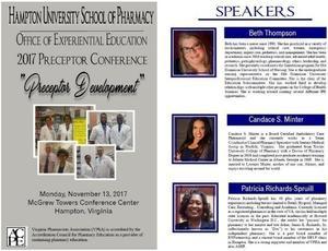 Preceptor Conference brochure